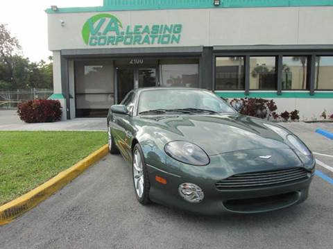 2001 Aston Martin DB7 for sale at VA Leasing Corporation in Doral FL
