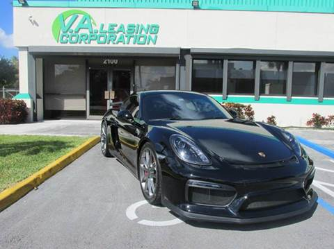 2016 Porsche Cayman for sale at VA Leasing Corporation in Doral FL