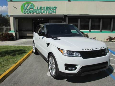 2016 Land Rover Range Rover Sport for sale at VA Leasing Corporation in Doral FL