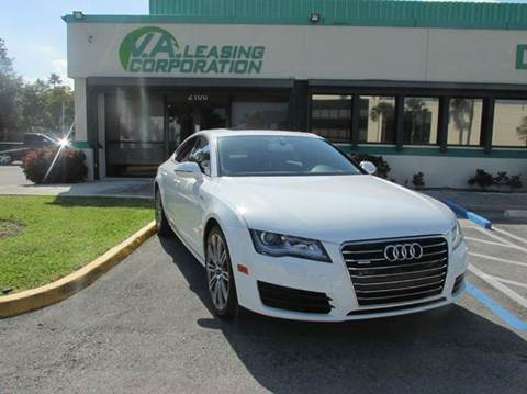 2012 Audi A7 for sale at VA Leasing Corporation in Doral FL