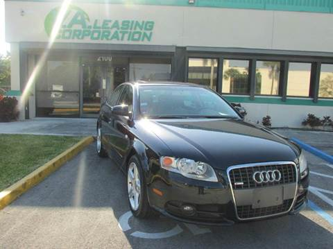 2008 Audi A4 for sale at VA Leasing Corporation in Doral FL