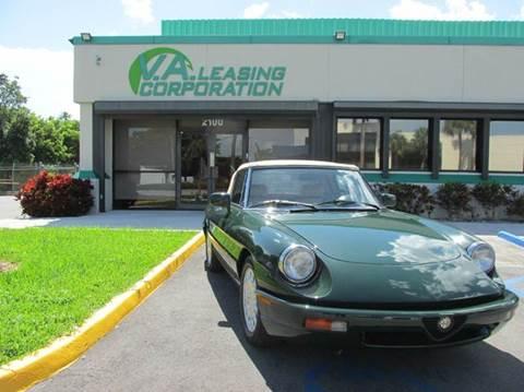 1994 Alfa Romeo Spider for sale at VA Leasing Corporation in Doral FL