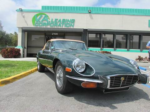 1973 Jaguar E-Type for sale at VA Leasing Corporation in Doral FL