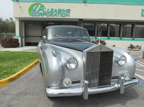1962 Rolls-Royce Silver Cloud 2 for sale at VA Leasing Corporation in Doral FL