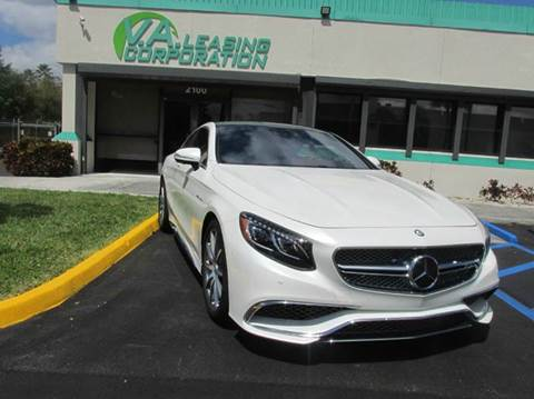 2016 Mercedes-Benz S-Class for sale at VA Leasing Corporation in Doral FL