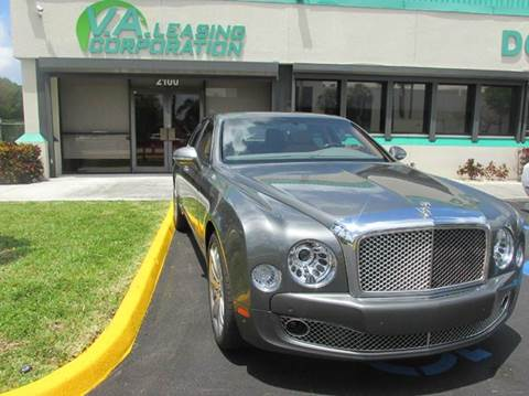 2016 Bentley Mulsanne for sale at VA Leasing Corporation in Doral FL