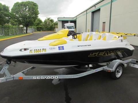 2011 Sea-Doo 150 SPEEDSTER for sale at VA Leasing Corporation in Doral FL