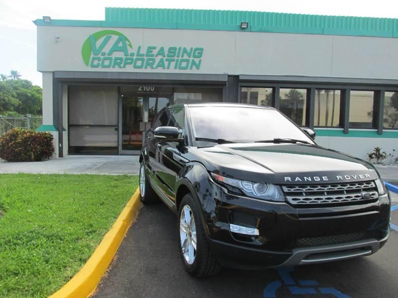 2013 Land Rover Range Rover Evoque for sale at VA Leasing Corporation in Doral FL
