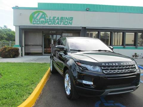 2013 Land Rover Range Rover Evoque for sale at VA Leasing Corporation in Doral FL