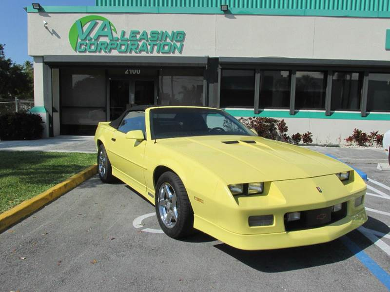 1988 Chevrolet Camaro for sale at VA Leasing Corporation in Doral FL