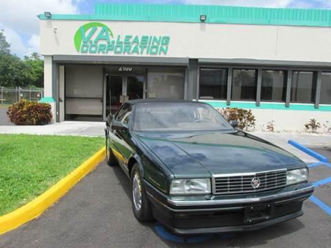 1993 Cadillac Allante for sale at VA Leasing Corporation in Doral FL