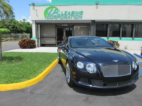 2012 Bentley Continental GT for sale at VA Leasing Corporation in Doral FL