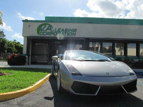 2008 Lamborghini Gallardo for sale at VA Leasing Corporation in Doral FL