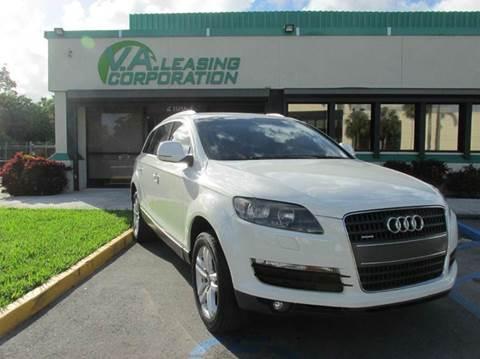 2009 Audi Q7 for sale at VA Leasing Corporation in Doral FL