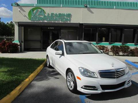 2013 Mercedes-Benz C-Class for sale at VA Leasing Corporation in Doral FL