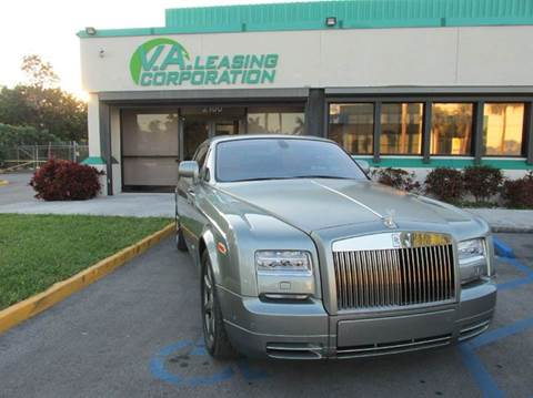 2013 Rolls-Royce Phantom Coupe for sale at VA Leasing Corporation in Doral FL