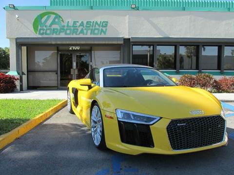 2017 Audi R8 for sale at VA Leasing Corporation in Doral FL