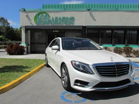 2014 Mercedes-Benz S-Class for sale at VA Leasing Corporation in Doral FL