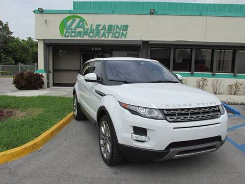 2014 Land Rover Range Rover Evoque for sale at VA Leasing Corporation in Doral FL