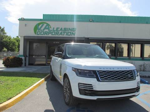 2018 Land Rover Range Rover for sale at VA Leasing Corporation in Doral FL