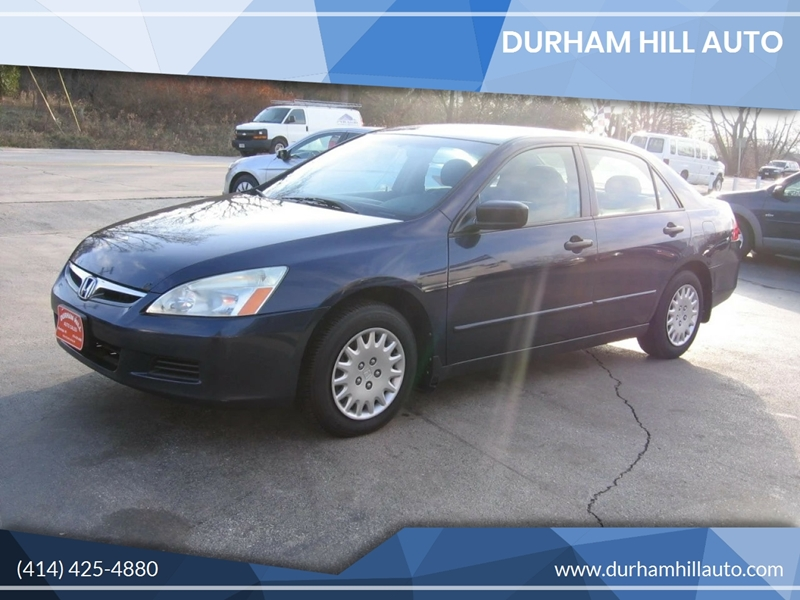 2007 honda accord value package 4dr sedan 2 4l i4 5m in muskego wi durham hill auto. Black Bedroom Furniture Sets. Home Design Ideas