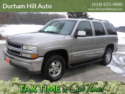 2001 Chevrolet Tahoe LT for sale at Durham Hill Auto in Muskego WI