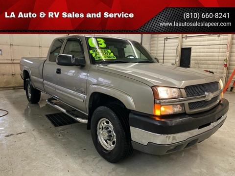 2003 Chevrolet Silverado 2500HD for sale at LA Auto & RV Sales and Service in Lapeer MI