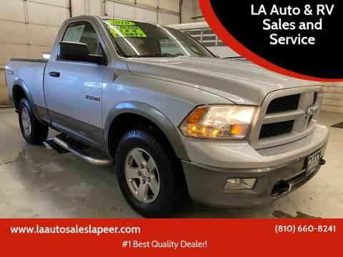 2010 Dodge Ram Pickup 1500 for sale at LA Auto & RV Sales and Service in Lapeer MI