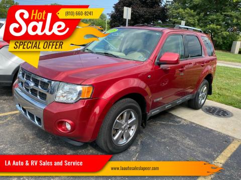 2008 Ford Escape for sale at LA Auto & RV Sales and Service in Lapeer MI