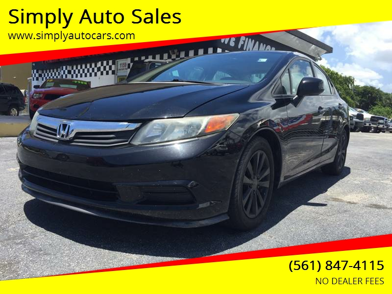 2012 honda civic ex l 4dr sedan in west palm beach fl for Honda dealership west palm beach