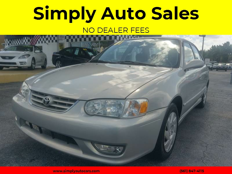 2001 Toyota Corolla S 4dr Sedan   West Palm Beach FL