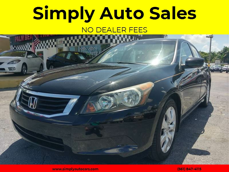 2009 Honda Accord EX L 4dr Sedan 5A   West Palm Beach FL