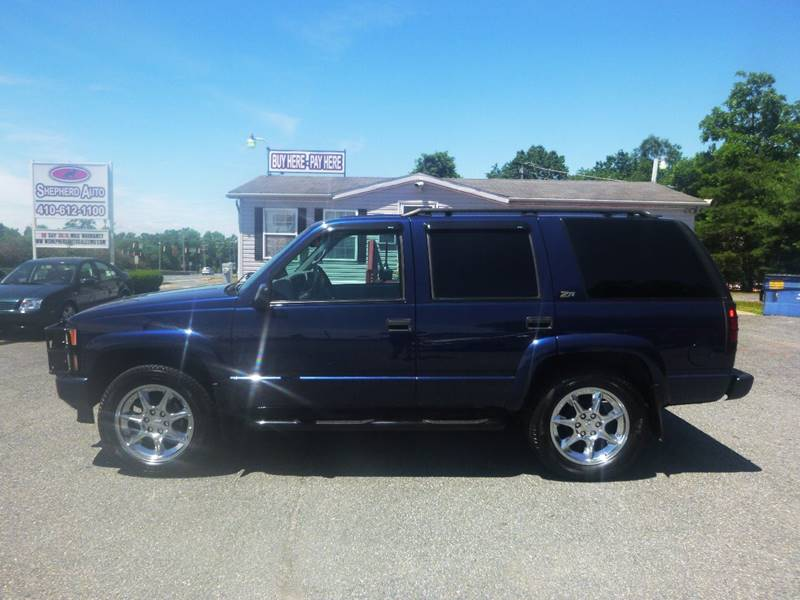 2000 Chevrolet Tahoe Limited/Z71 for sale at Shepherd Auto Sales in Joppa MD