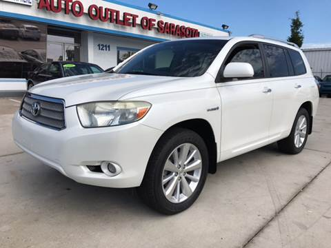 2008 Toyota Highlander Hybrid for sale at Auto Outlet of Sarasota in Sarasota FL