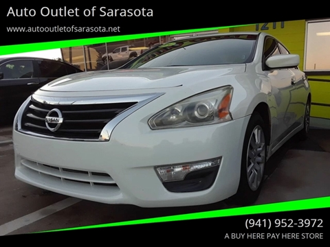 2014 Nissan Altima for sale at Auto Outlet of Sarasota in Sarasota FL