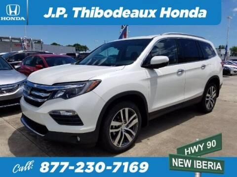 2018 Honda Pilot for sale at J P Thibodeaux Used Cars in New Iberia LA