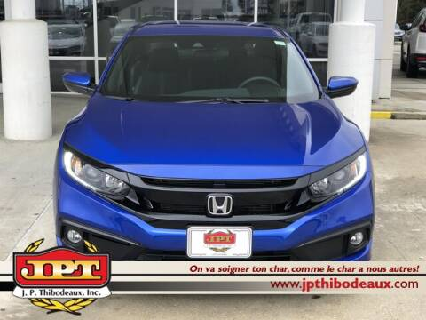 2020 Honda Civic Sport for sale at J P Thibodeaux Used Cars in New Iberia LA