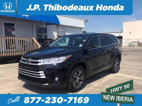 2018 Toyota Highlander for sale at J P Thibodeaux Used Cars in New Iberia LA