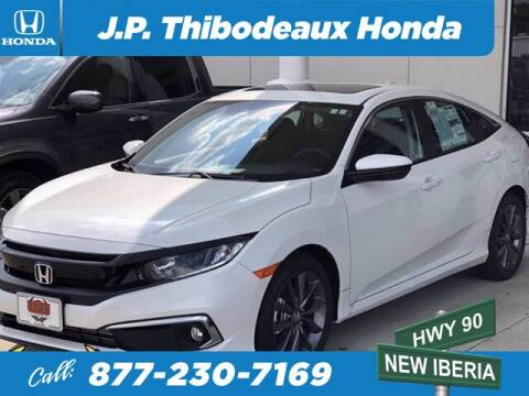 2020 Honda Civic for sale at J P Thibodeaux Used Cars in New Iberia LA