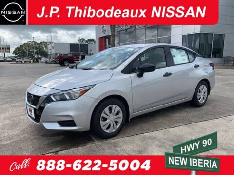2020 Nissan Versa for sale at J P Thibodeaux Used Cars in New Iberia LA