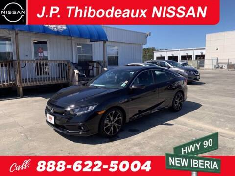 2019 Honda Civic for sale at J P Thibodeaux Used Cars in New Iberia LA
