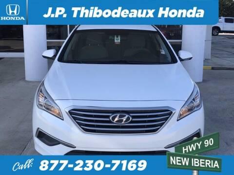 2016 Hyundai Sonata for sale at J P Thibodeaux Used Cars in New Iberia LA