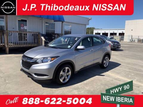 2018 Honda HR-V for sale at J P Thibodeaux Used Cars in New Iberia LA