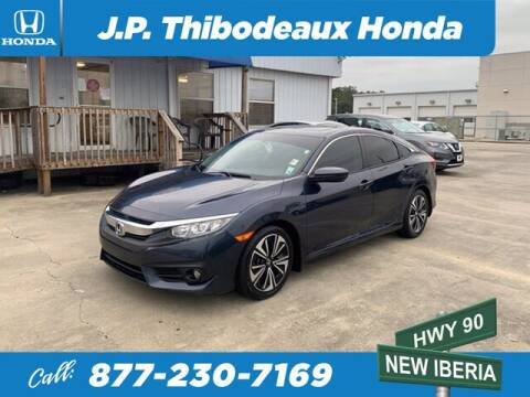 2016 Honda Civic for sale at J P Thibodeaux Used Cars in New Iberia LA