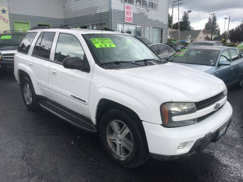 2004 Chevrolet TrailBlazer for sale at American Dream Motors in Everett WA