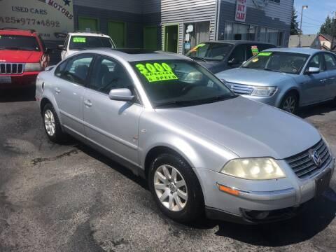 2003 Volkswagen Passat for sale at American Dream Motors in Everett WA