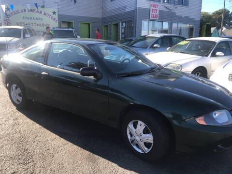 2004 Chevrolet Cavalier for sale at American Dream Motors in Everett WA