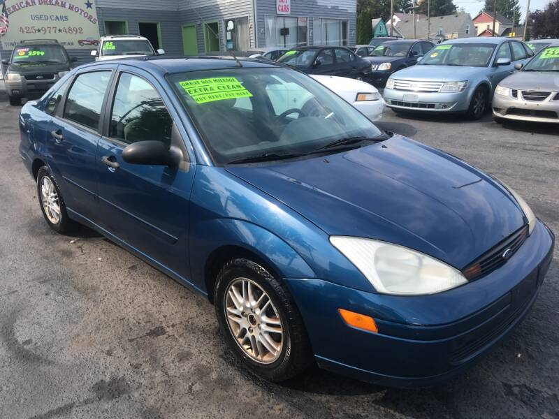 2000 Ford Focus for sale at American Dream Motors in Everett WA