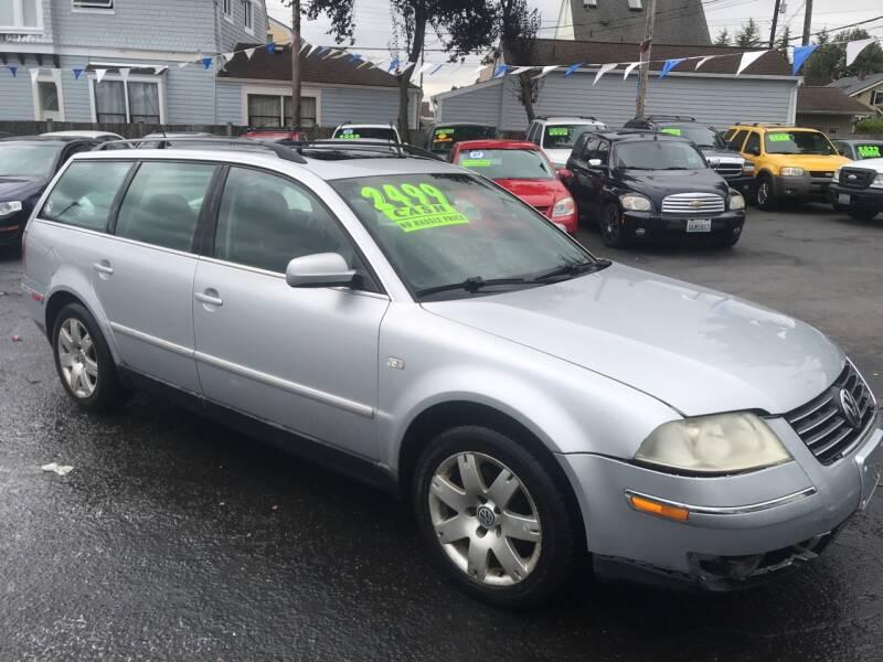 2002 Volkswagen Passat for sale at American Dream Motors in Everett WA
