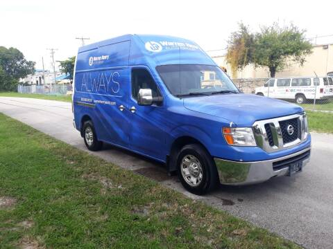 2012 Nissan NV Cargo for sale at LAND & SEA BROKERS INC in Deerfield FL